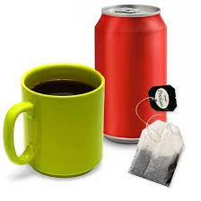 swap the coffee and soft drinks for something healthier